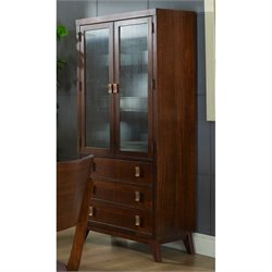 Somerton Perspective China Cabinet in Deep Chestnut Brown