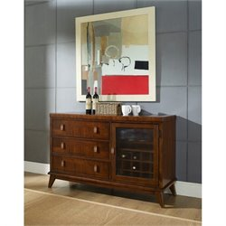 Somerton Perspective Server in Deep Chestnut Brown