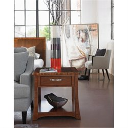 Somerton Milan End Table in Polished Brown