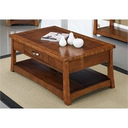 Somerton Milan Coffee Table in Polished Brown