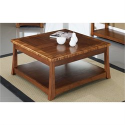 Somerton Milan Square Lift Top Coffee Table in Polished Brown