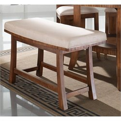 Somerton Milan Bench in Polished Brown