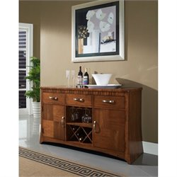 Somerton Milan Server in Polished Brown