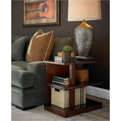 Somerton Studio End Table in Mid Tone Brown Mahogany