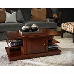 Somerton Studio Coffee Table in Mid Tone Brown Mahogany