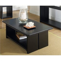 Somerton Ebony Coffee Table in Black