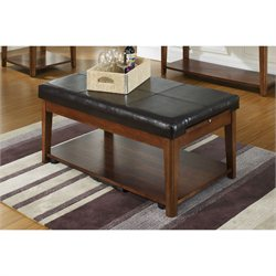 Somerton Davis Lift Top Coffee Table in Brown Cherry