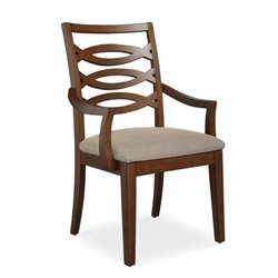 Somerton Claire de Lune Wood Back Arm Chair in American Cherry