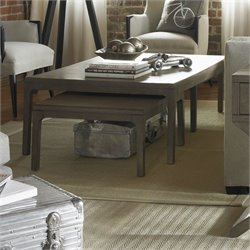 Somerton Improv G 3 Piece Nesting Coffee Table Set in Gray Oak