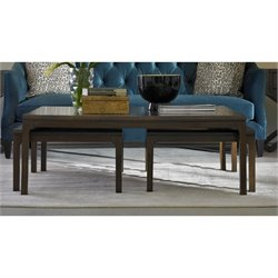 Somerton Improv B 3 Piece Nesting Coffee Table Set in Rich Walnut