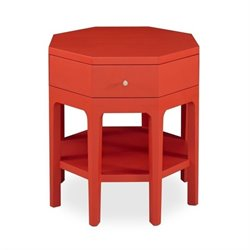 Somerton Improv G Octagon Accent Table in Red