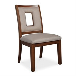 Somerton Well Mannered Side Chair in Warm Reddish Brown