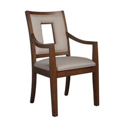 Somerton Well Mannered Arm Chair in Warm Reddish Brown