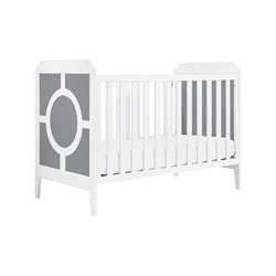 Da Vinci Poppy Regency 3 in 1 Convertible Wood Crib in Gray and White