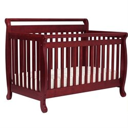 DaVinci Emily 4-in-1 Convertible Wood Baby Crib with Toddler Rail in Cherry