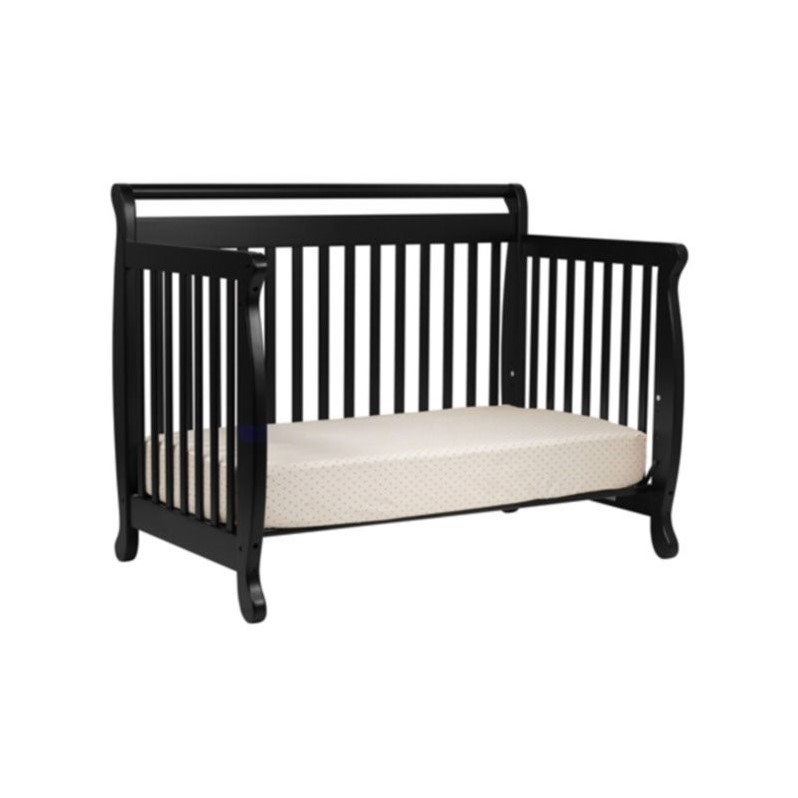 DaVinci Emily 4-in-1 Convertible Wood Baby Crib with Toddler Rail in Ebony
