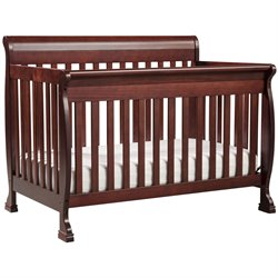 DaVinci Kalani 4-in-1 Convertible Baby Crib with Toddler Rail in Cherry