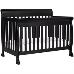 DaVinci Kalani 4-in-1 Convertible Wood Baby Crib with Toddler Rail in Ebony