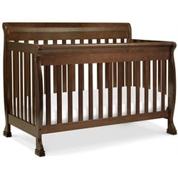 DaVinci Kalani 4-in-1 Convertible Wood Baby Crib with Toddler Rail in Espresso