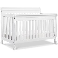 DaVinci Kalani 4-in-1 Convertible Wood Baby Crib with Toddler Rail in White