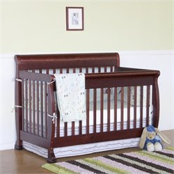 DaVinci Kalani 4-in-1 Convertible Crib with Full Bed Rails in Cherry