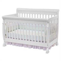 DaVinci Kalani 4-in-1 Convertible Crib with Full Bed Rails in White