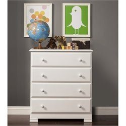 DaVinci Kalani 4 Drawer Chest in White Finish