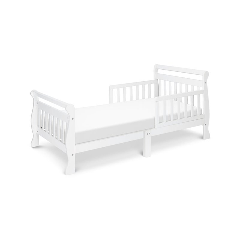 DaVinci Wood Sleigh Toddler Bed In White