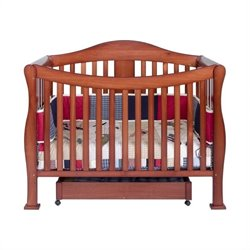DaVinci Parker 4 in 1 Convertible Wood Baby Crib w/ Toddler Rail in Cherry