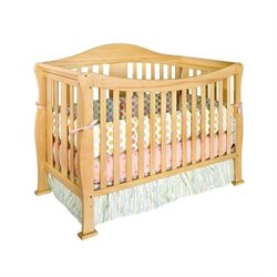 DaVinci Parker 4 in 1 Convertible Wood Baby Crib with Toddler Rail in Natural