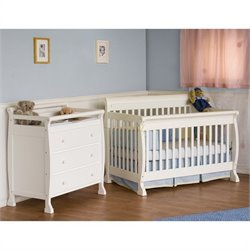 DaVinci Kalani 4-in-1 Convertible Crib with Changing Table in White