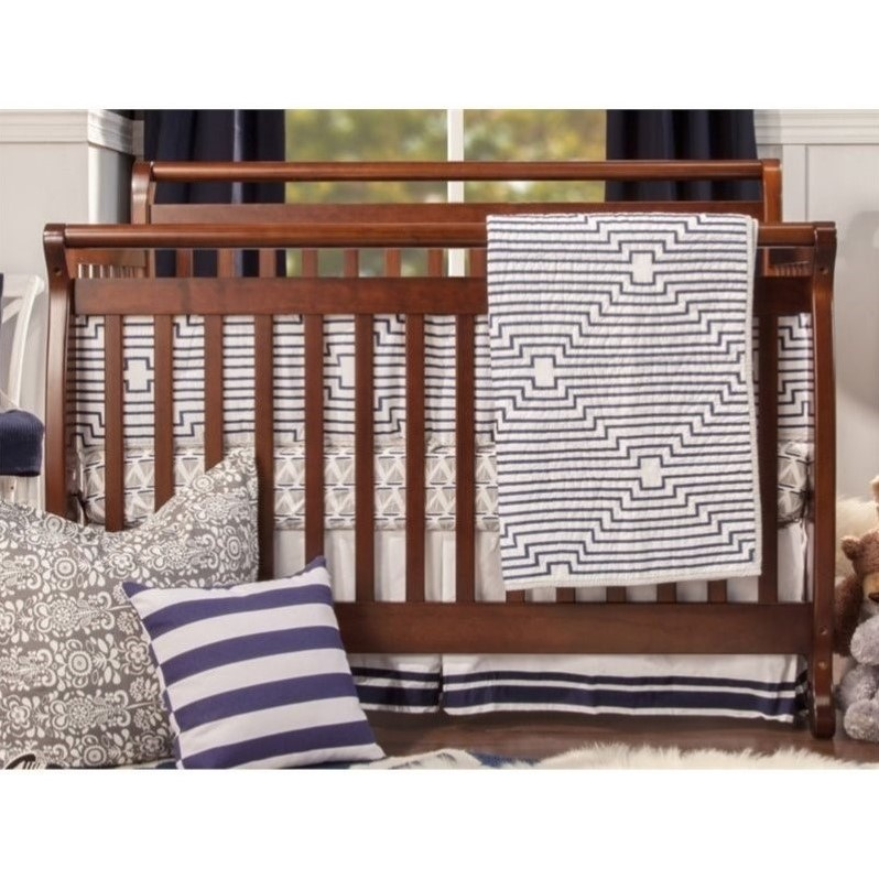 DaVinci Emily 4-in-1 Convertible Wood Baby Crib with Toddler Rail in Espresso