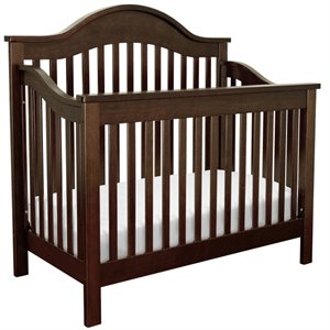 Jayden 4-in-1 Convertible Wood Crib with Toddler Rail