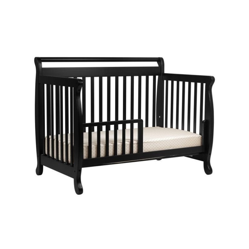 DaVinci Emily 4-in-1 Convertible Crib with Changing Table in Ebony