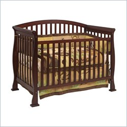DaVinci Thompson 4-in-1 Convertible Wood Crib with Toddler Rail in Coffee