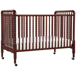DaVinci Jenny Lind 3-in-1 Stationary Convertible Mobile Wood Crib in Cherry