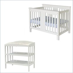 DaVinci Annabelle Convertible Crib and Changing Table in White