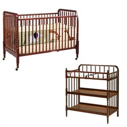 DaVinci Jenny Lind 3-in-1 Convertible Crib with Changing Table in Cherry