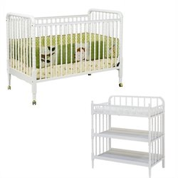 DaVinci Jenny Lind 3-in-1 Convertible Crib with Changing Table in White