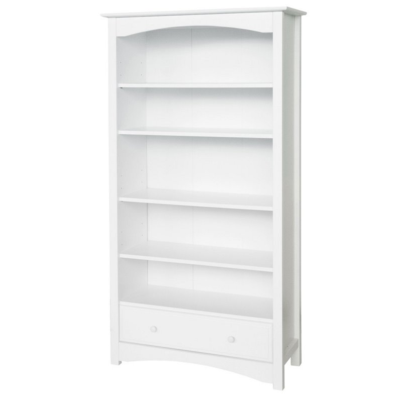DaVinci Roxanne 5 Shelf Wood Bookcase in White