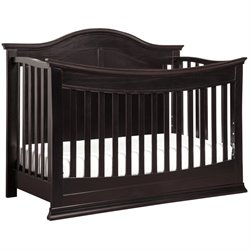 DaVinci Meadow 4-in-1 Convertible Crib with Toddler Rail in Dark Java
