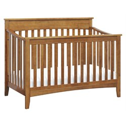 DaVinci Grove 4-in-1 Convertible Crib with Toddler Rail in Chestnut
