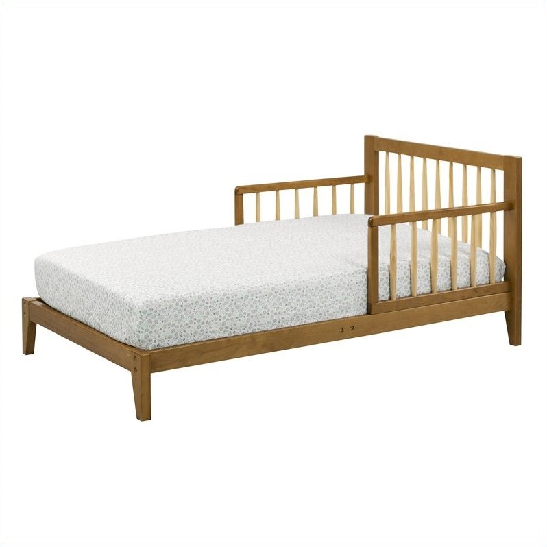 DaVinci Elizabeth II Convertible Wood Toddler Bed In White