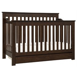 Da Vinci Piedmont 4-In-1 Convertible Crib with Toddler Rail in Espresso