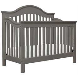 DaVinci Jayden 4-in-1 Convertible Wood Crib with Toddler Rail in Slate
