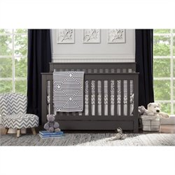 DaVinci Piedmont 4-In-1 Convertible Crib with Toddler Rail in Slate