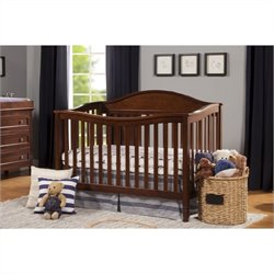 DaVinci Laurel 4-in-1 Convertible Crib with Toddler Rail in Espresso