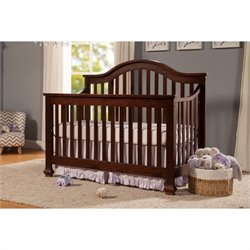 DaVinci Clover 4-in-1 Convertible Crib in Espresso with Crib Mattress