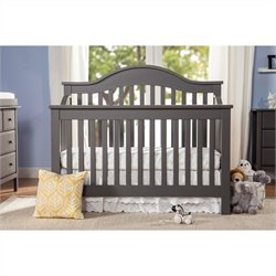 DaVinci Jayden 4-in-1 Convertible Crib in Slate with Crib Mattress