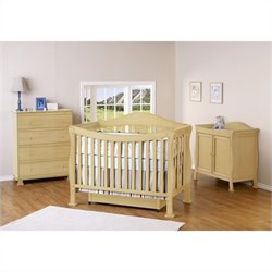 DaVinci Parker 4-in-1 Convertible Crib in Natural with Crib Mattress
